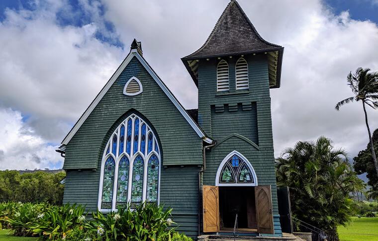 Pretty church with amazing stainglass windows