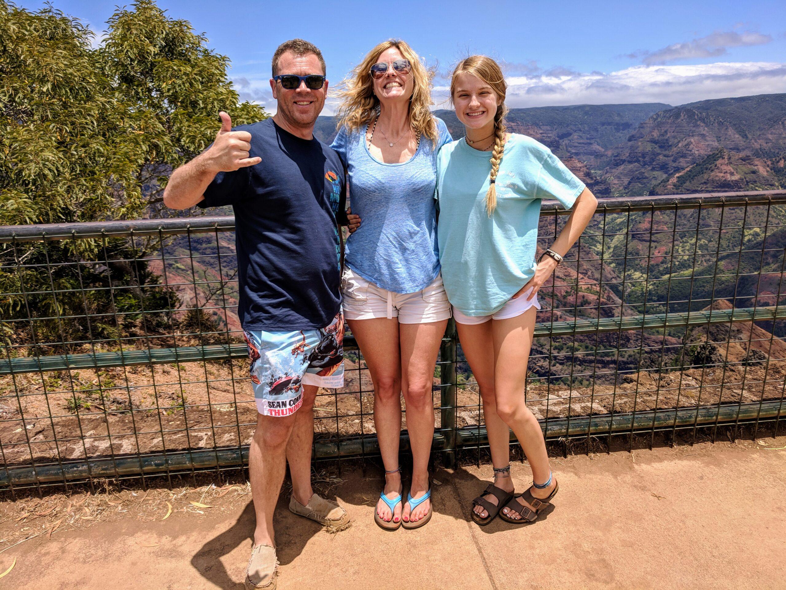 Tourist at Waimea Canyon 3